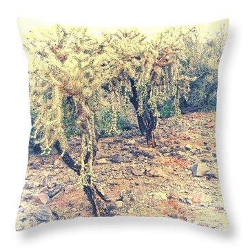 Chain Fruit Cholla Throw Pillow
