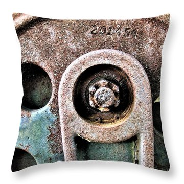 Chain Gear Throw Pillow