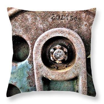 Chain Gear Throw Pillow
