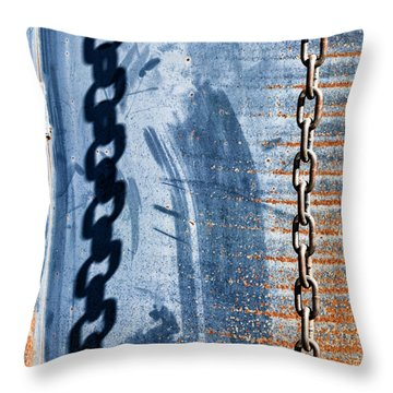 Chain Shadow Throw Pillow