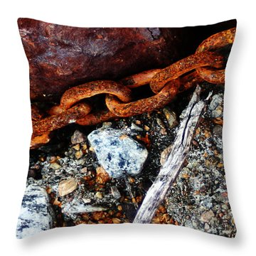 Chained To The Past 2 Throw Pillow