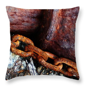 Chained To The Past Throw Pillow