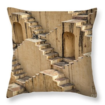 Chand Baori Throw Pillow