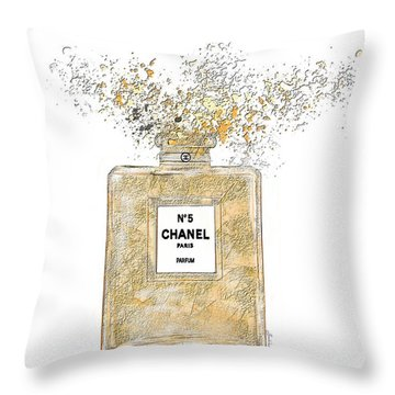Chanel Explosion Throw Pillow