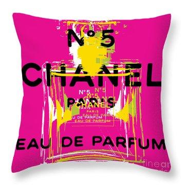 Chanel No 5 Pop Art - #3 Throw Pillow
