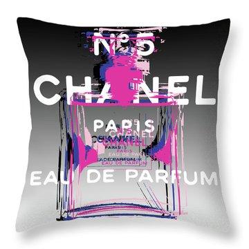 Chanel No 5 - Pop Art Throw Pillow