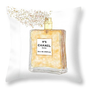 Chanel Splash Throw Pillow