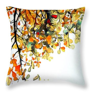Throw Pillow featuring the digital art Change Of Season by Pennie McCracken