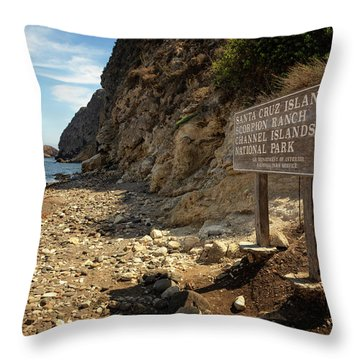 Channel Islands National Park Viii Throw Pillow