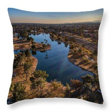 Chaparral Lake Throw Pillow