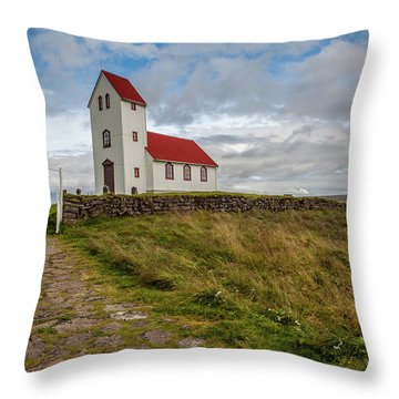 Chapel Of Iceland Throw Pillow
