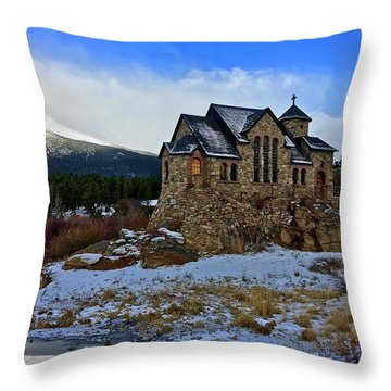 Throw Pillow featuring the photograph Chapel On The Rock by Dan Miller