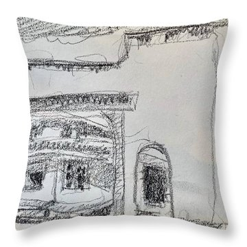 Charcoal Pencil Arch.jpg Throw Pillow
