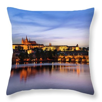 Charles Bridge Throw Pillow