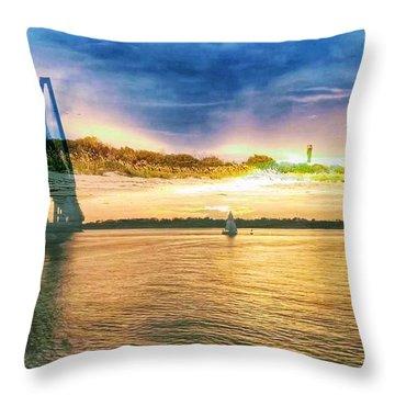 Charleston Harbor Sc Throw Pillow