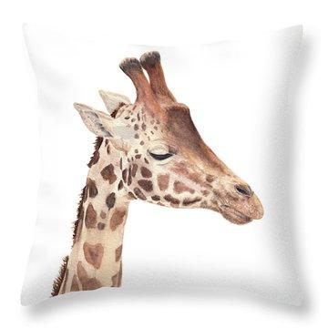 Charlie The Giraffe Throw Pillow