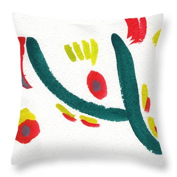 Throw Pillow featuring the painting Chasing by Bee-Bee Deigner