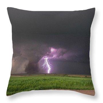 Chasing Naders In Nebraska 017 Throw Pillow