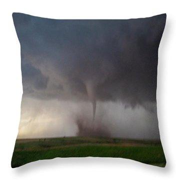 Chasing Naders In Nebraska 026 Throw Pillow