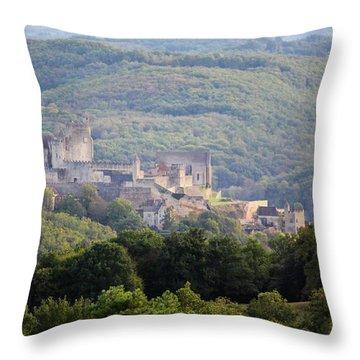 Chateau Beynac, France Throw Pillow