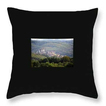 Throw Pillow featuring the photograph Chateau Beynac, France by Mark Shoolery