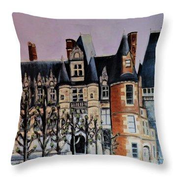 Chateau De Maintenon Throw Pillow