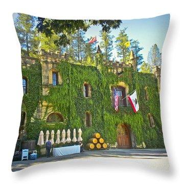Chateau Montelena Facade Throw Pillow