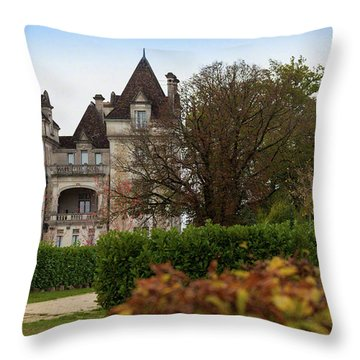 Chateau, Near Beynac, France Throw Pillow