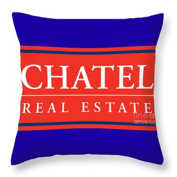 Throw Pillow featuring the photograph Chatel Real Esate by Jost Houk