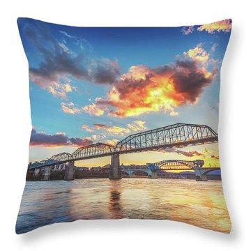Chattanooga Sunset 6 Throw Pillow