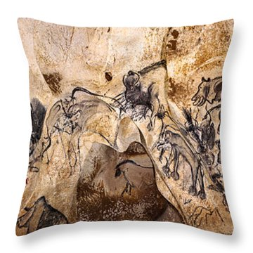 Chauvet Lions And Rhinos Throw Pillow