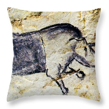 Chauvet Rhinoceros Throw Pillow