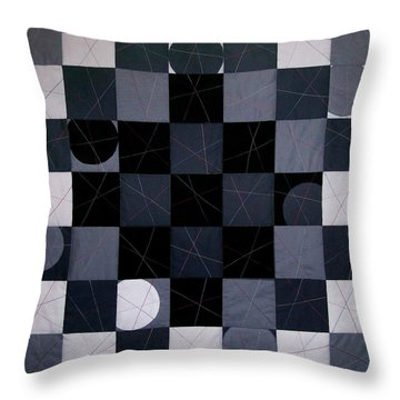 Checkers And Pick-up-sticks Throw Pillow