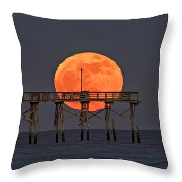 Cheddar Moon Throw Pillow