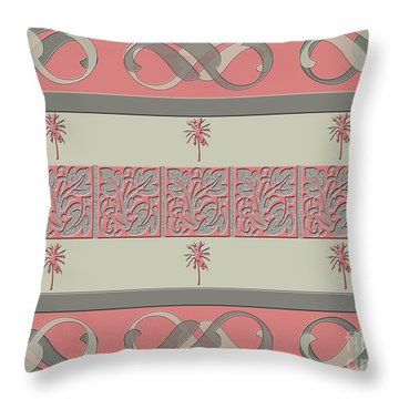 Cheery Coral Pink Throw Pillow