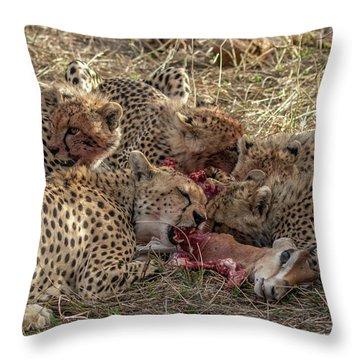Cheetahs And Grant's Gazelle Throw Pillow