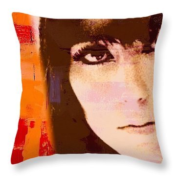 Cher Throw Pillow