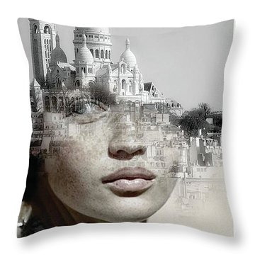 Cherishing White Buildings Throw Pillow