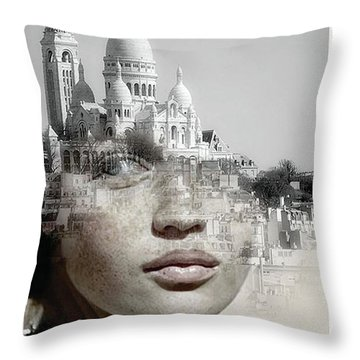 Cherishing White Buildings Throw Pillow