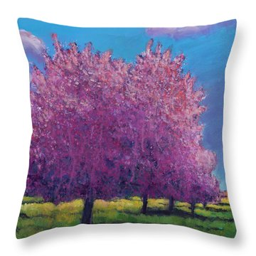 Cherry Blossom Day Throw Pillow