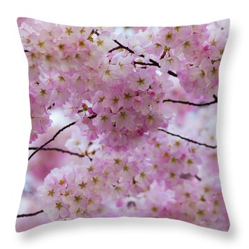 Throw Pillow featuring the photograph Cherry Blossoms 8625 by Mark Shoolery