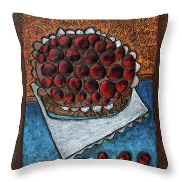 Cherry Pie Throw Pillow