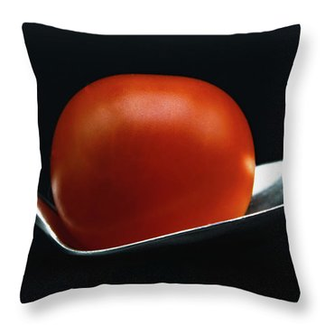 Cherry Tomato Throw Pillow