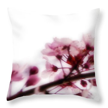 Throw Pillow featuring the photograph Cherry Triptych Left Panel by Mark Shoolery