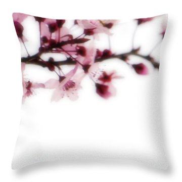 Throw Pillow featuring the photograph Cherry Triptych Right Panel by Mark Shoolery
