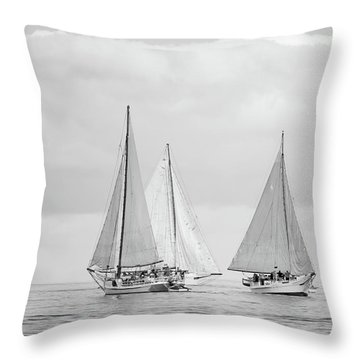 Throw Pillow featuring the photograph Chesapeake Bay Skipjacks by Mark Duehmig