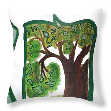 Chet, Tree Of Life  Ab21 Throw Pillow