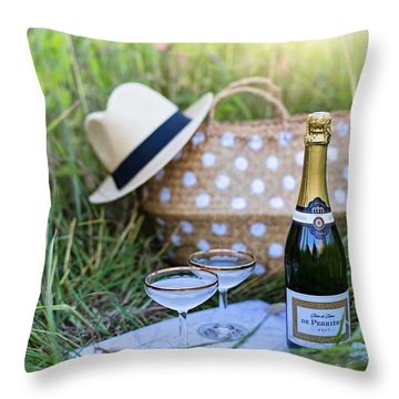 Chic Picnic Throw Pillow