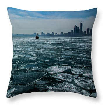 Chicago From Navy Pier 2 Throw Pillow