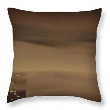 Chicago In Fog Throw Pillow